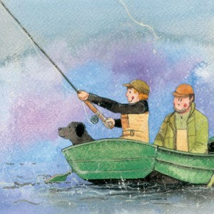 Alex Clark Card, Green Boat Fishing