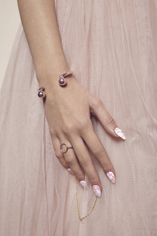 'CANDY BLUSH' FLAT RING