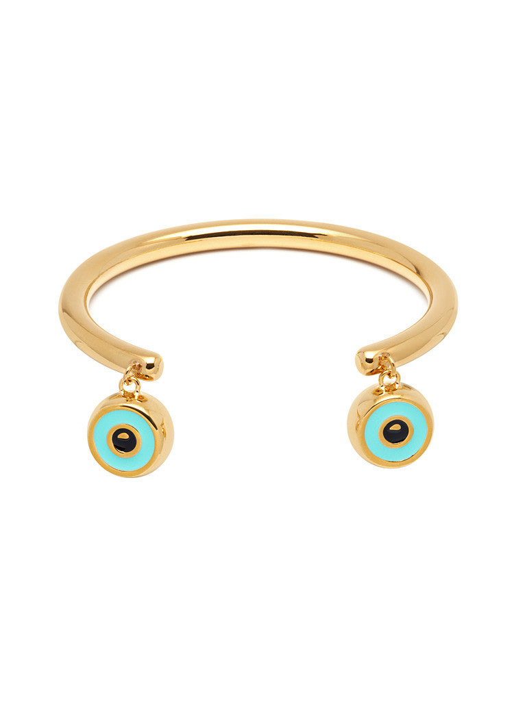 'BEVERLY HILLS DOLLS' CUFF BRACELET WITH EYE CHARMS