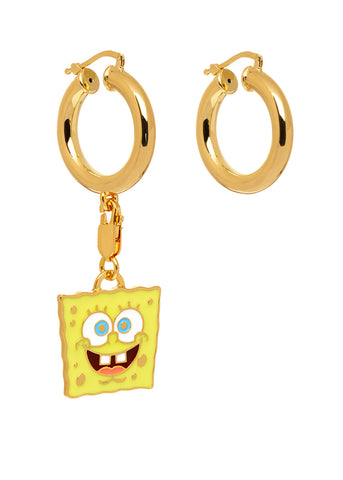 "MFPxSPONGEBOB GOLD ""Cheerful"" Charm Earrings"
