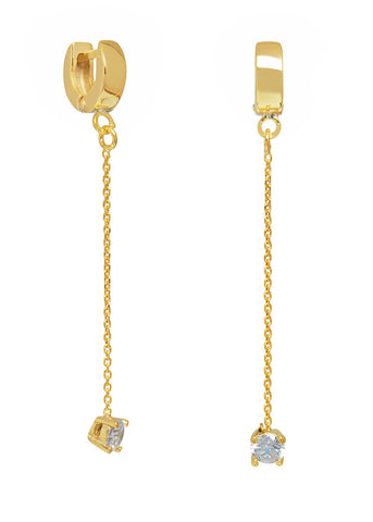 THE BLING RING CHAIN DROP EARRINGS