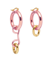 'CANDY BLUSH' HOOPS WITH CHARMS