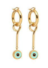 'BEVERLY HILLS DOLLS' HOOPS WITH EYE CHARMS