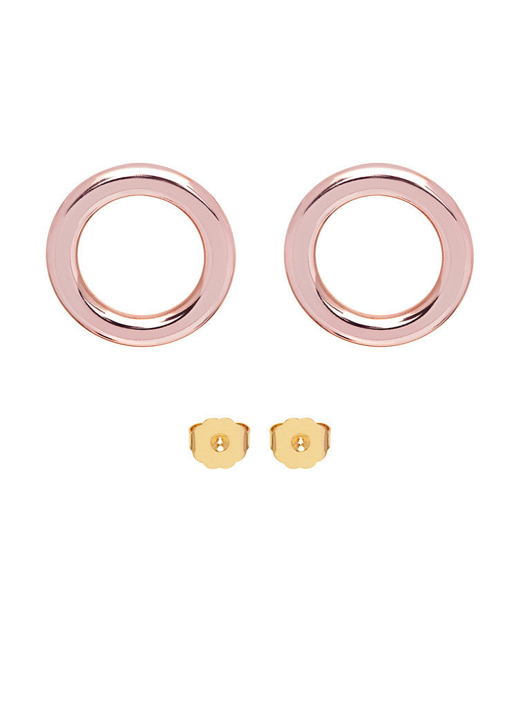 'CANDY BLUSH' FLAT HOOPS