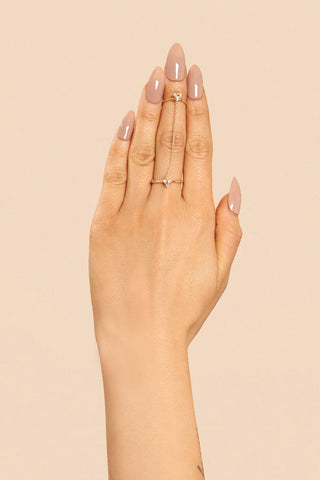 'BULLET' CHAINED RING