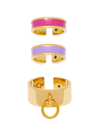 'BEVERLY HILLS DOLLS' SET OF 3 RINGS