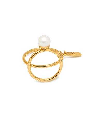 THE REBIRTH Pearl Band Ring