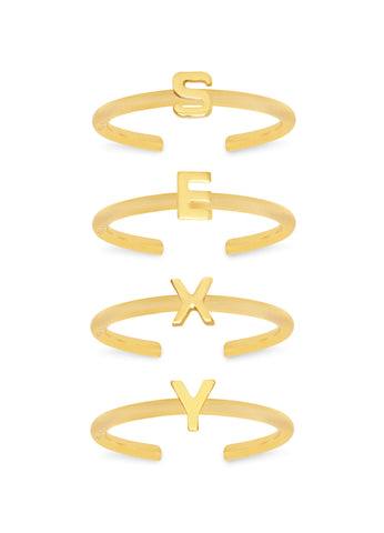 'PUNK KISS' MIDI RINGS SET OF 4