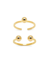 'PIERCED' SET OF TWO MIDI RINGS