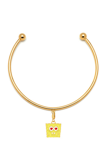 "MFPxSPONGEBOB GOLD ""Loved"" Charm Neck Cuff"