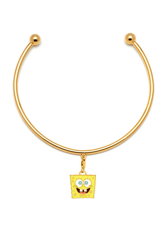 "MFPxSPONGEBOB GOLD ""Cheerful"" Charm Neck Cuff"