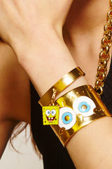 MFPxSPONGEBOB GOLD Statement Cuff Bracelet