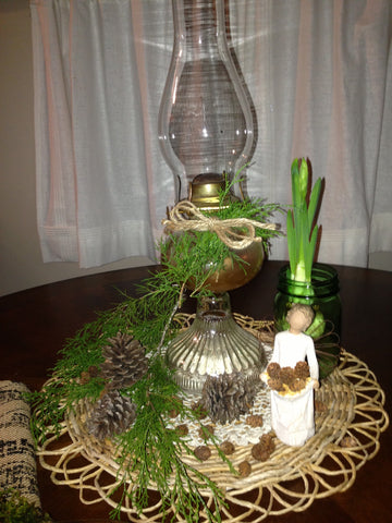 nature and candle decor