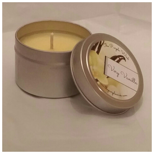 4 oz Soy Candle Tin - The Purple Wick  - 6