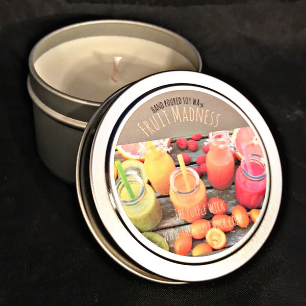 Small Tin Hand Poured Soy Wax Candle