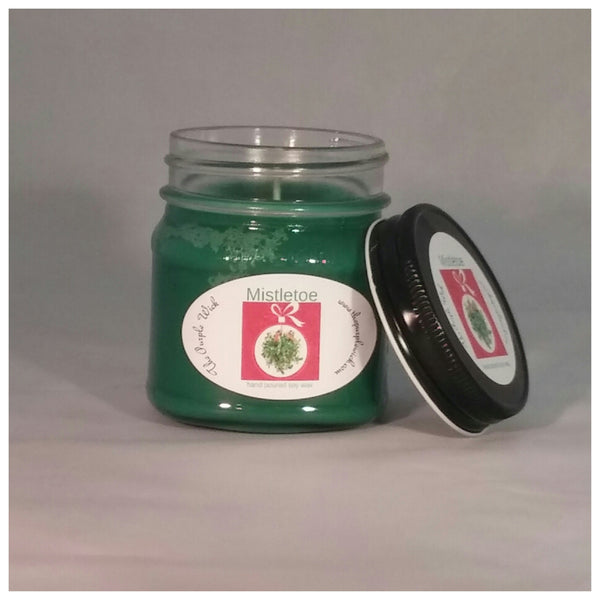 Square Mason Hand Poured Soy Candle