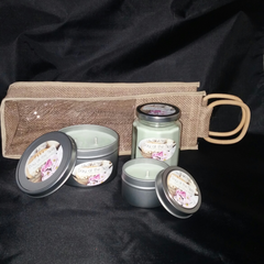 Soy Candle Collection Gift Bag-Gift Set-The Purple Wick-Day at the Spa-The Purple Wick