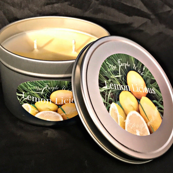 Large Double Wick Tin Hand Poured Soy Candle