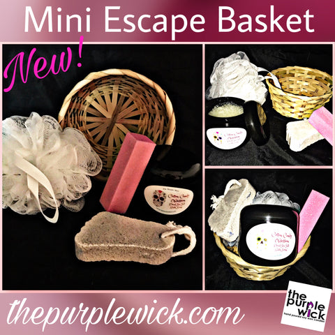 Mini Escape Basket-Body Scrub-The Purple Wick-The Purple Wick