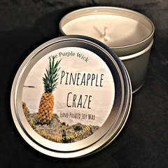 Pineapple Craze-The Purple Wick-Small Tin-The Purple Wick