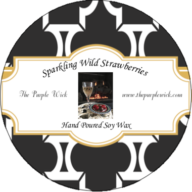 Sparkling Wild Strawberries-The Purple Wick-The Purple Wick
