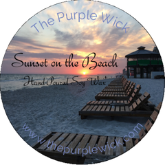 Sunset on the Beach-The Purple Wick-The Purple Wick