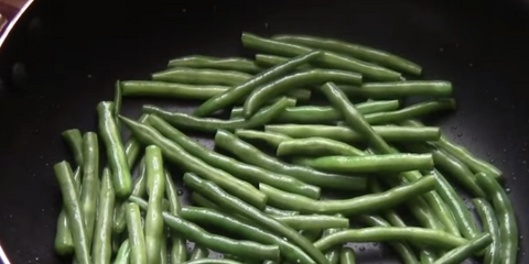 Pan Of green beans