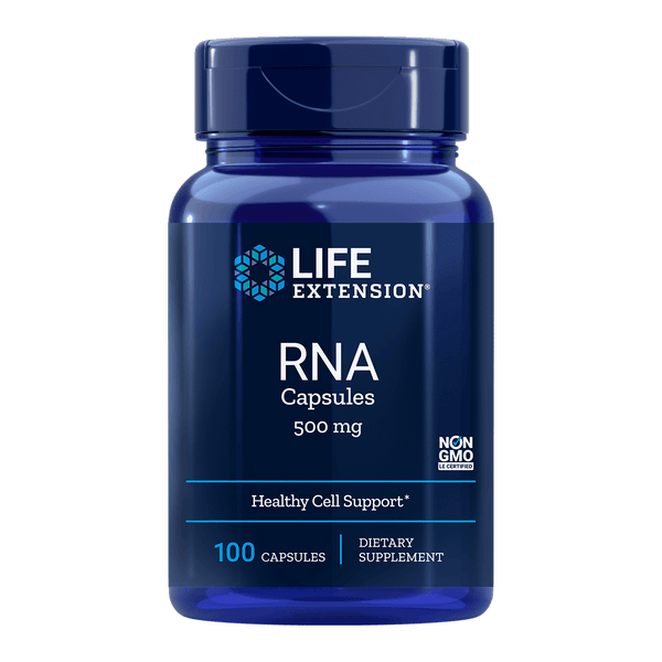 Life Extension RNA 500 mg (Ribonucleic Acid) - 100 Capsules - Health As It Ought to Be