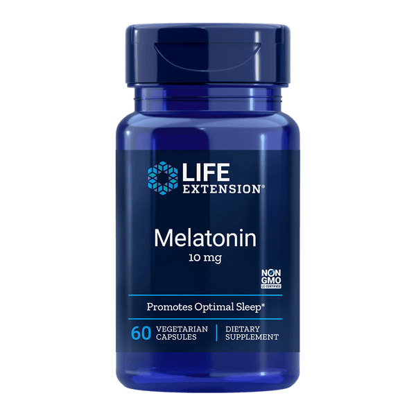 Life Extension Melatonin 10 mg - 60 Vegetarian Capsules - Health As It Ought to Be