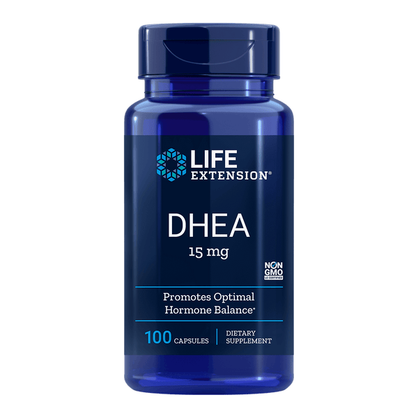 Life Extension DHEA 15 mg - 100 Capsules - Health As It Ought to Be