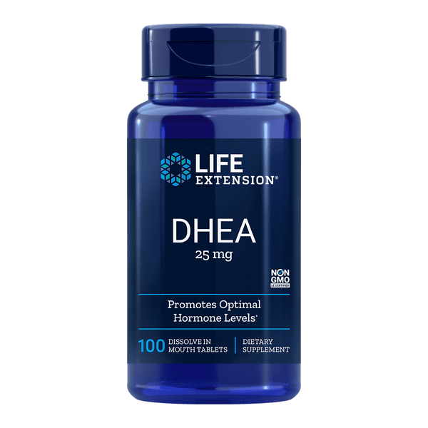 Life Extension DHEA Dissolve 25 mg - 100 Dissolve in Mouth Tablets - Health As It Ought to Be
