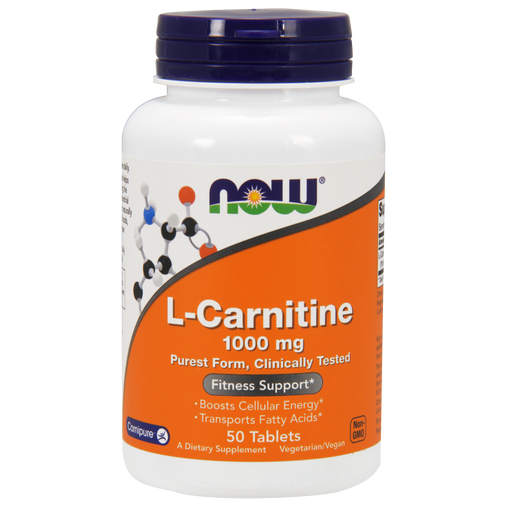 Now Foods L-Carnitine 1000 mg - 50 Tablets - Health As It Ought to Be