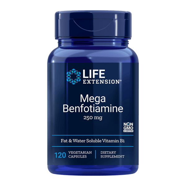 Life Extension Mega Benfotiamine 250 mg - 120 Vegetarian Capsules - Health As It Ought to Be