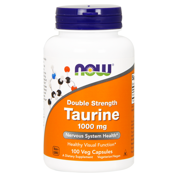 Now Foods Taurine Double Strength 1000 mg - 100 Veg Capsules - Health As It Ought to Be