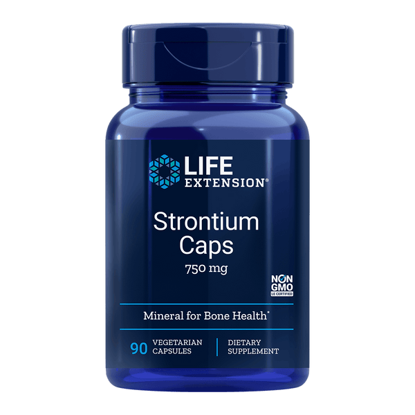 Life Extension Strontium 750 mg - 90 Vegetarian Capsules - Health As It Ought to Be