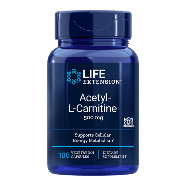Life Extension Acetyl L-Carnitine 500 mg - 100 Vegetarian Capsules - Health As It Ought to Be