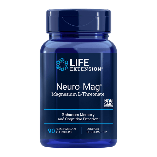 Life Extension Neuro-Mag® Magnesium L-Threonate - 90 Vegetarian Capsules - Health As It Ought to Be