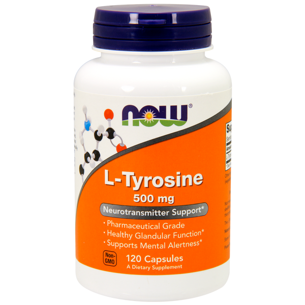 Now Foods L-Tyrosine 500 mg - 120 Capsules - Health As It Ought to Be