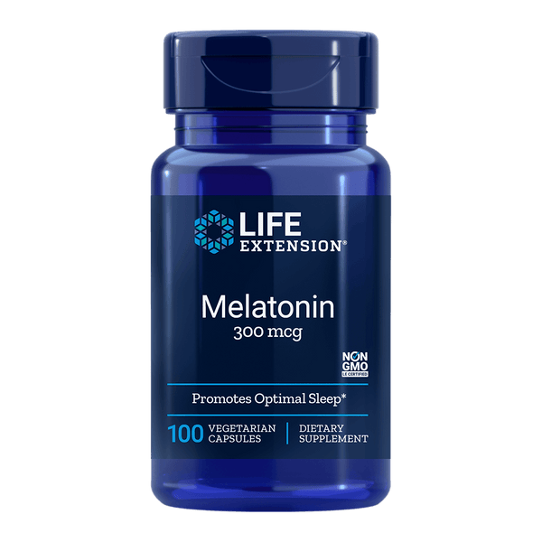 Life Extension Melatonin 300 mcg - 100 Vegetarian Capsules - Health As It Ought to Be