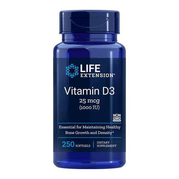 Life Extension Vitamin D3 1000 IUs - 250 Softgels - Health As It Ought to Be