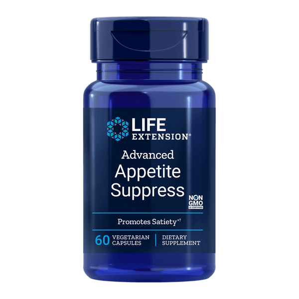 Life Extension Appetite Suppress (previously Natural Appetite Suppress) - 60 Vegetarian Capsules - Health As It Ought to Be