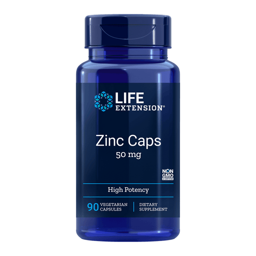 Life Extension Zinc 50 mg - 90 Vegetarian Capsules - Health As It Ought to Be