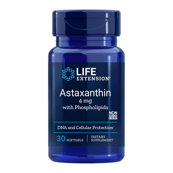 Life Extension Astaxanthin with Phospholipids  4 mg - 30 Softgels - Health As It Ought to Be