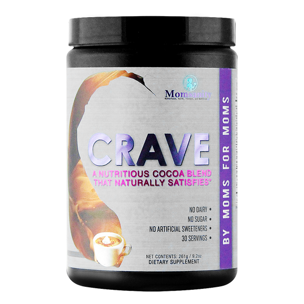 Momsanity CRAVE A Nutritious Cocoa Blend that Naturally Satisfies - 30 servings
