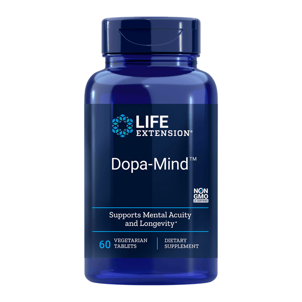 Life Extension Dopa-Mind - 60 Vegetarian Tablets - Health As It Ought to Be