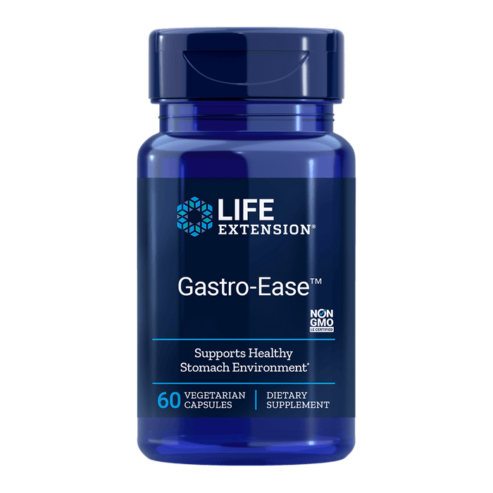 Life Extension Gastro-Ease (Zinc 75mg) - 60 Vegetarian Capsules - Health As It Ought to Be