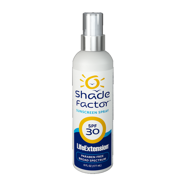 Life Extension Shade Factor™ Sunscreen Spray SPF 30 - 6 fl. oz. - Health As It Ought to Be