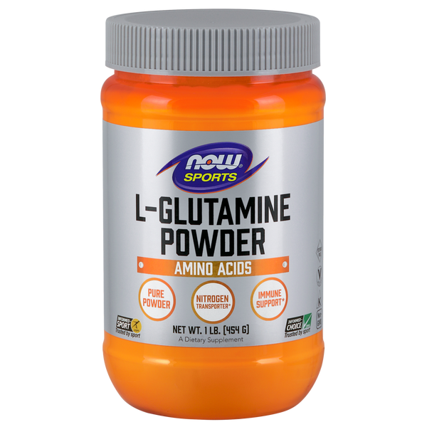 Now Foods L-Glutamine Powder Amino Acids - 1 lb. - Health As It Ought to Be