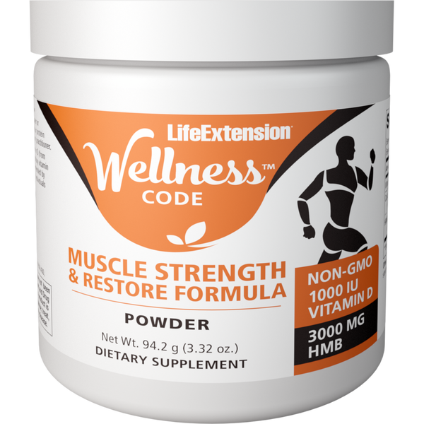 Life Extension Wellness Code™ Muscle Strength and Restore Formula - 3.32 oz. - Health As It Ought to Be