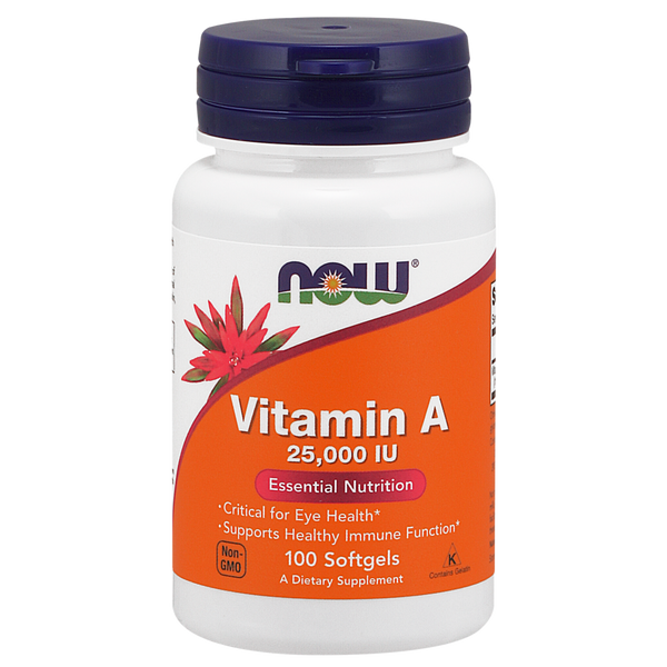 Now Foods Vitamin A 25,000 IU - 100 Softgels